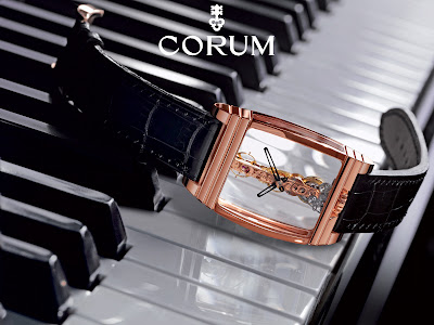 Montre Corum Golden bridge Or Rose