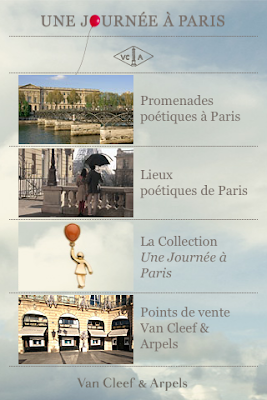 Van Cleef & Arpels Application iPhone Une journée à Paris