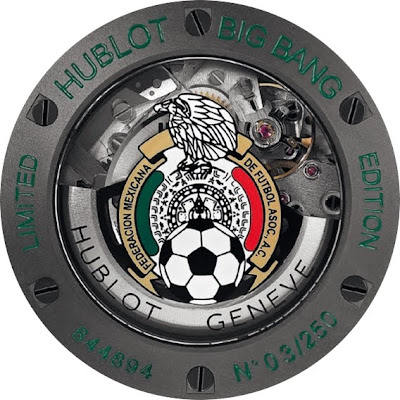 Mouvement Automatique Dos Montre Hublot Aero Bang fédération mexicaine de football
