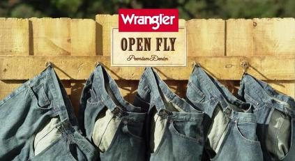 open fly jeans from Wrangler  The first jeans with no fly whatsoeverOpen Fly Jeans