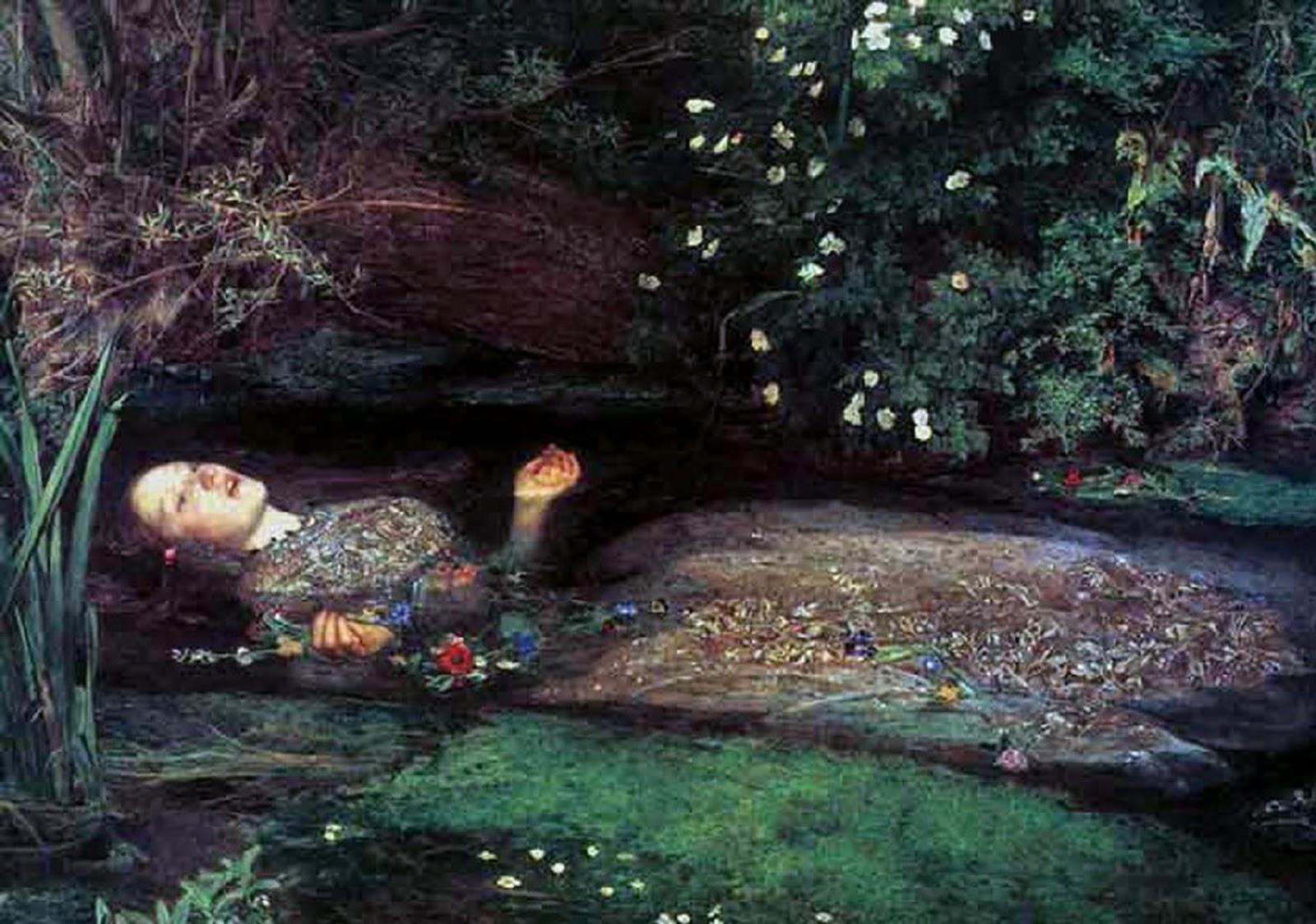 Millais Ophelia Wallpaper