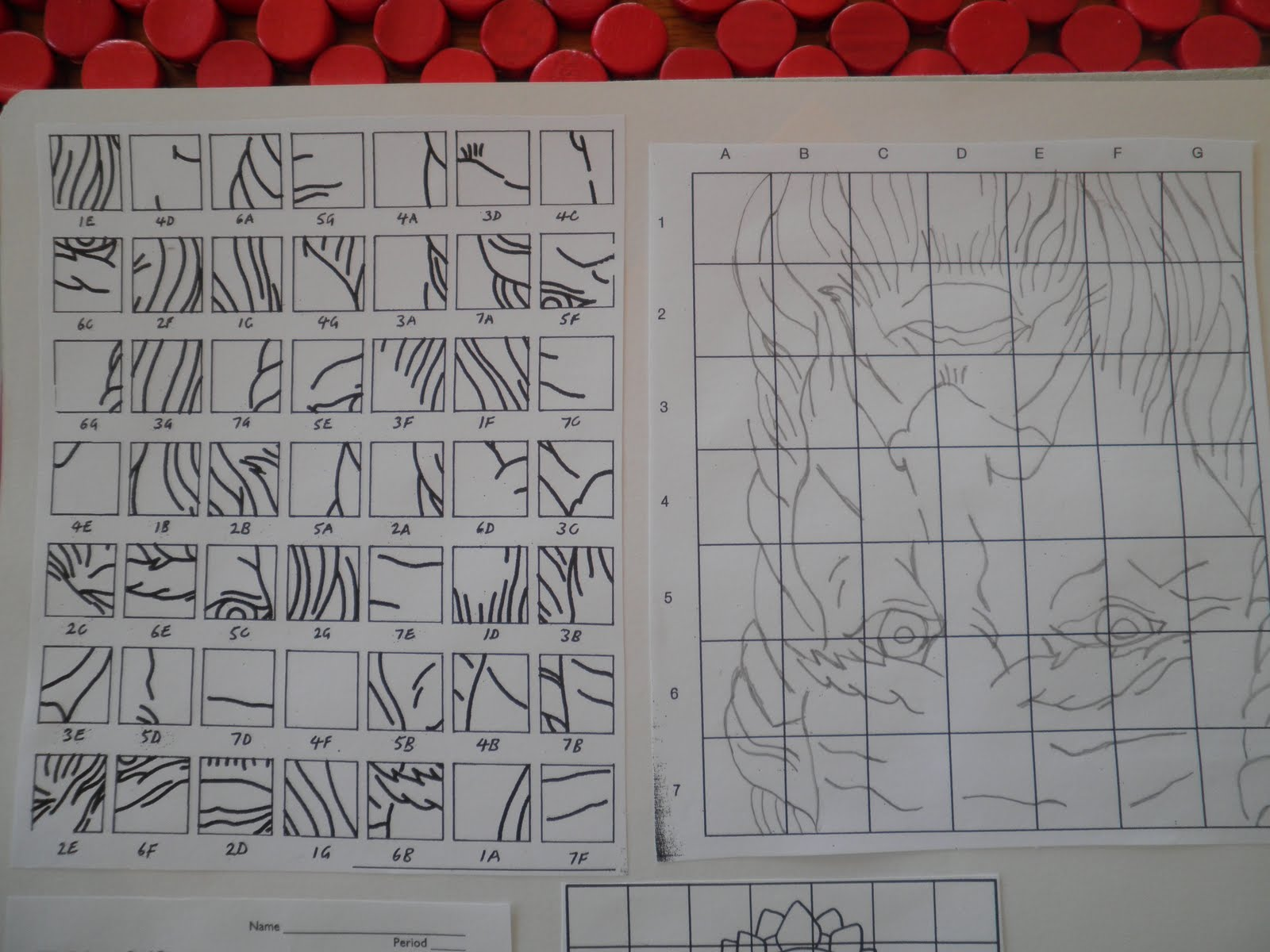 Mystery Grid Drawing Art Project