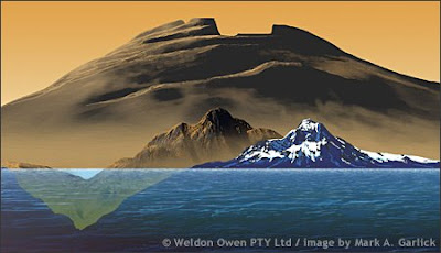 Comparison between Mount Everest and Olympus Mons