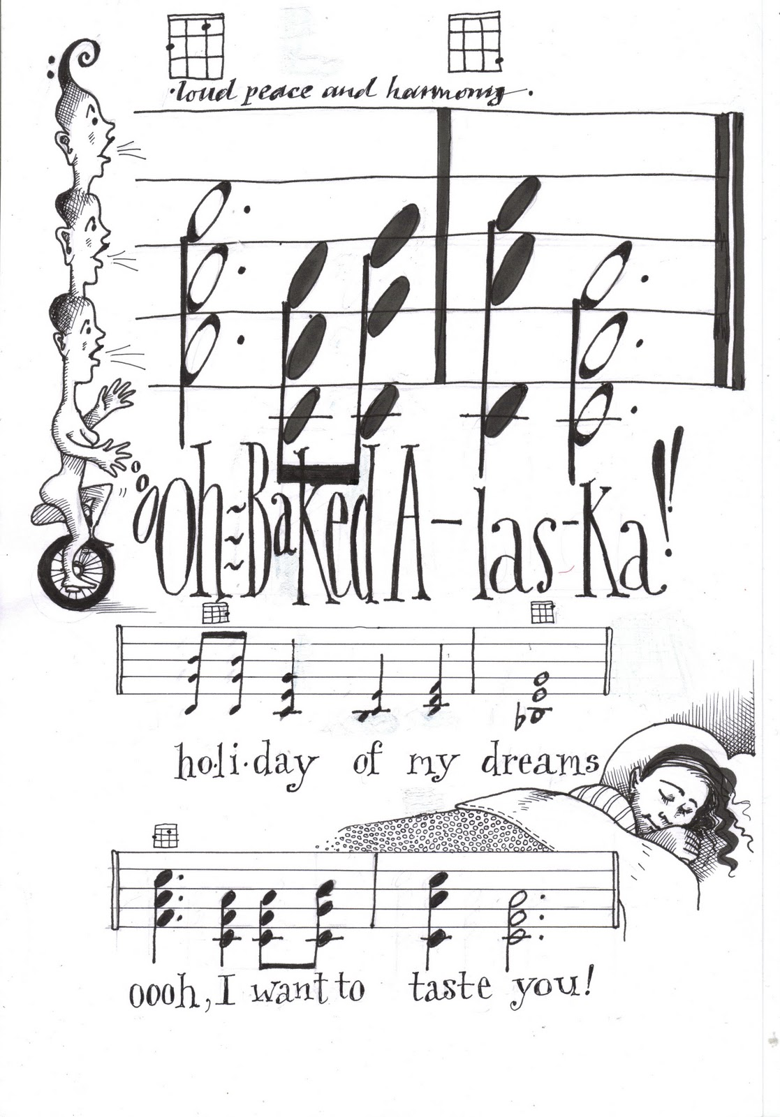 Helen McCookerybook: Baked Alaska Sheet Music and Ukelele Chords