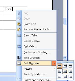 tabel word
