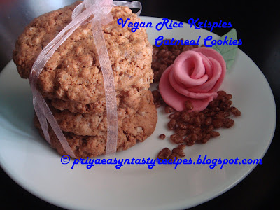 Rice Krispies Oatmeal Cookies