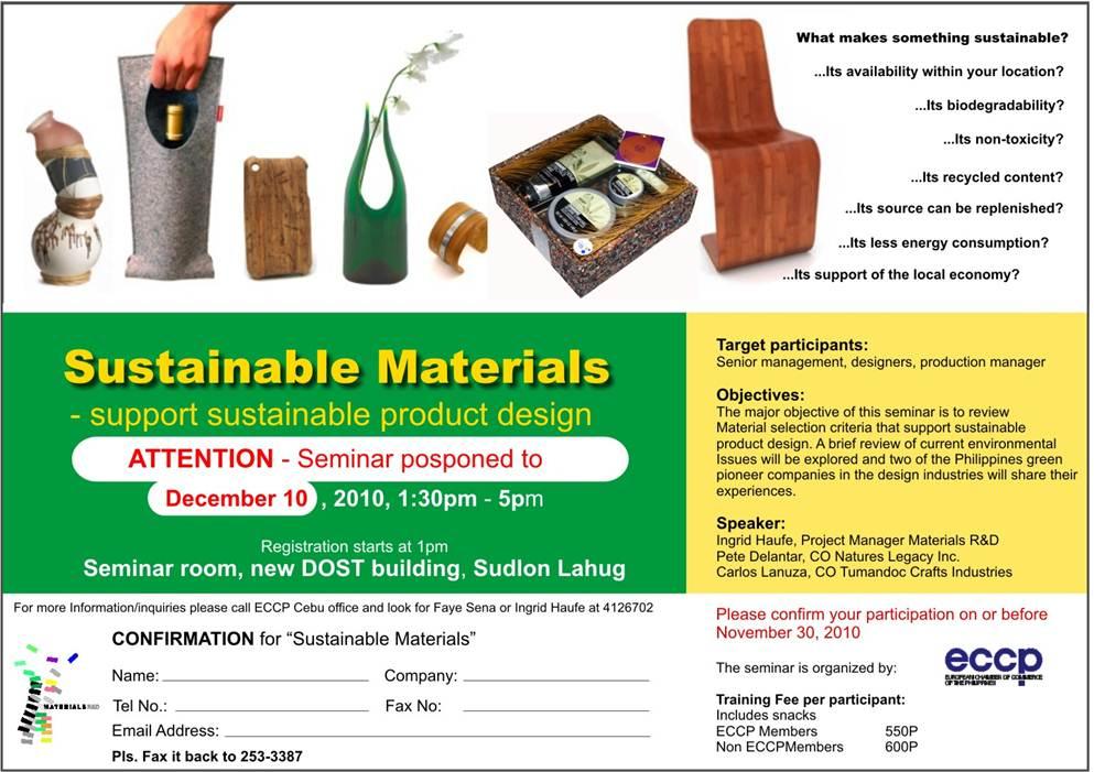 Sustainable Materials Seminar