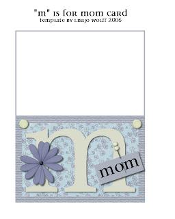lisajo studio m is for mom card envelope printables. Black Bedroom Furniture Sets. Home Design Ideas