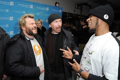 The Edge y Jack Black en Sundance