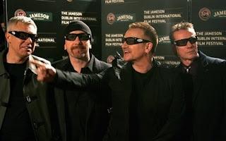 U2 en la premier de U2 3D en Dublin
