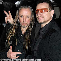 Bono y The Edge en Lillies Bordello, Dublin