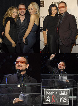Bono, Ali Hewson, Sheryl, gwen stefani