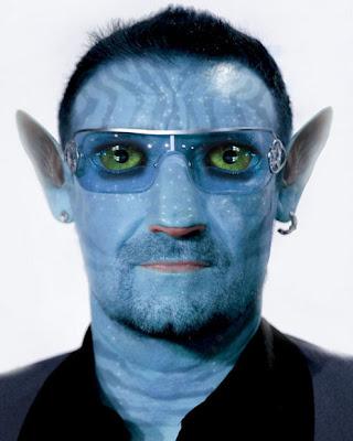 Bono como una Na'Vi de la pelicula Avatar