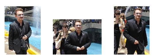 Bono en Nairobi, Kenia en 2010