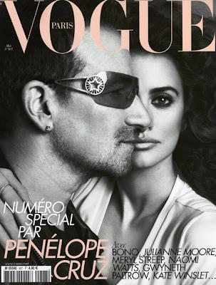 Mayo de 2010 de la Revista Vogue Paris, Bono y Penelope Cruz