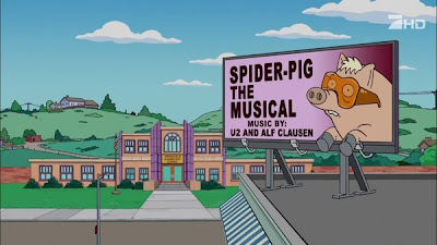 Spider-pig y U2 en los Simpsons