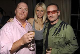Bono, Gwyneth Paltrow, Mario Batali