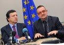 Bono y Durao Barroso en Nueva York 2008