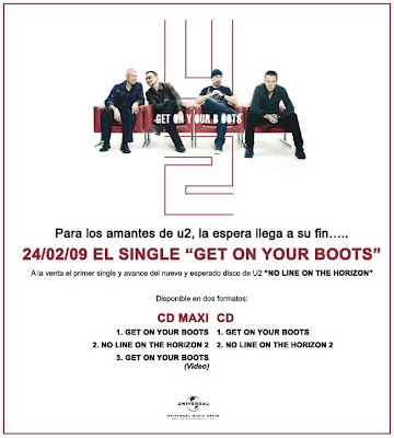 Get On Your Boots publicidad