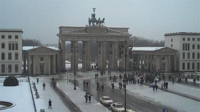 Adam en Berlin desde su hotel