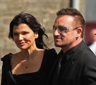 Bono y Ali en la boda de Andrea Corr