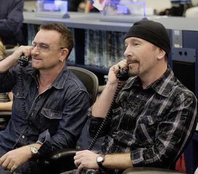 Bono y Edge en la NASA