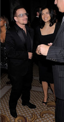 Bono y Ali Hewson en la celebración de cumpleaños de Sean Diddy Combs