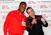 Bono en Londres presentando Nike y Product RED