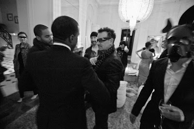 Bono, Edge, Lenny y West en Paris