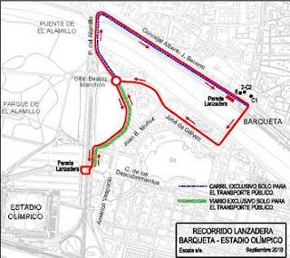 Plano transportes concierto U2 360 Tour Sevilla