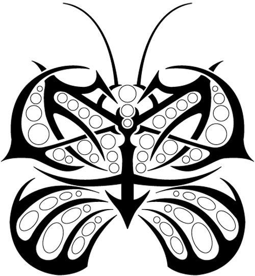 dedendz  tribal butter fly