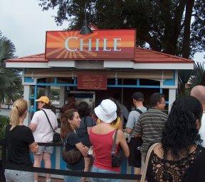 Camarón con *Pebre (Sauteed Shrimp with Cilantro Sauce) Chile '07
