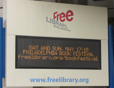 Philly Book Festival sign