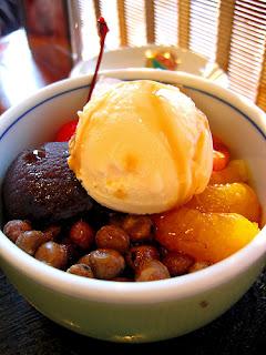 Anmitsu with ice cream - Japanese Ice Cream blog