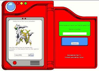 Pokemon Cyrus Pokedex free online pokemon game