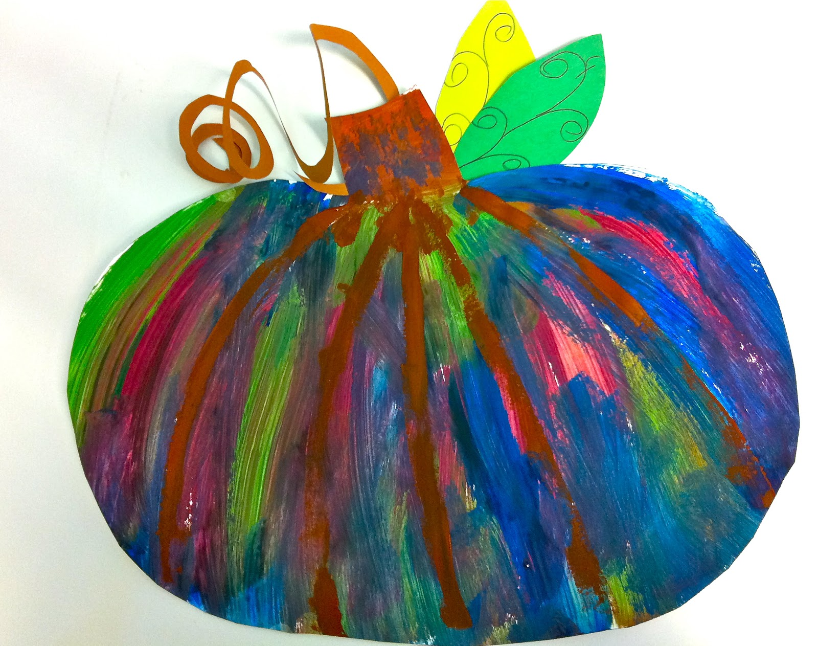 My Art Gallery Free Pumpkin Art Lesson For K 5th Grade