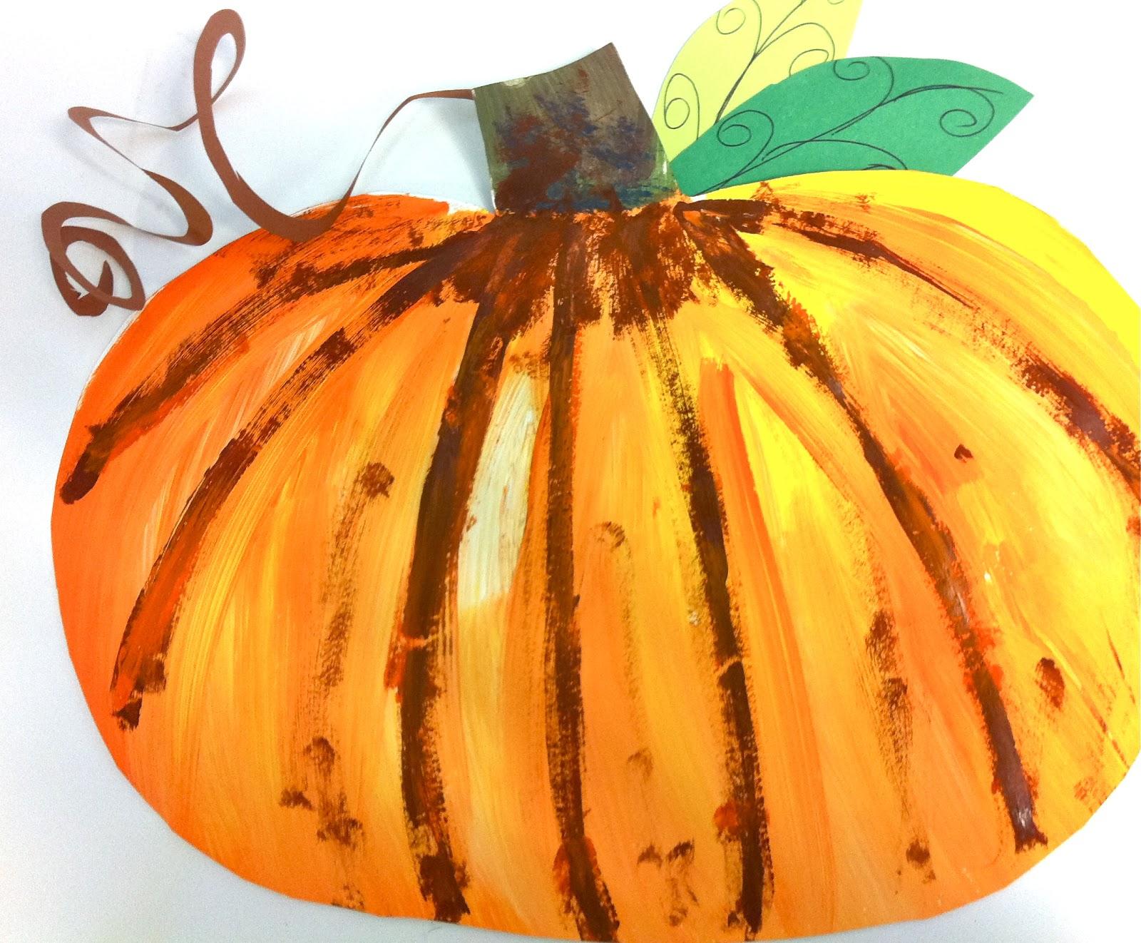My Art Gallery Free Pumpkin Art Lesson For K 5th Grade