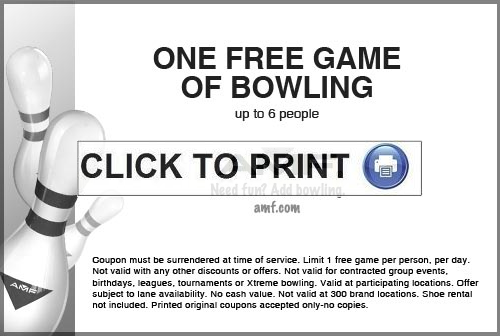 Offers Related To Bowling Coupons