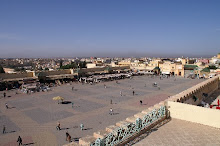 A view from our terrace of the main square in Meknes