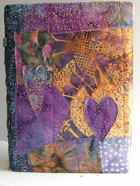 Fabric Collage Art Journal