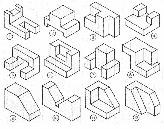 Isometric Drawing Exercises