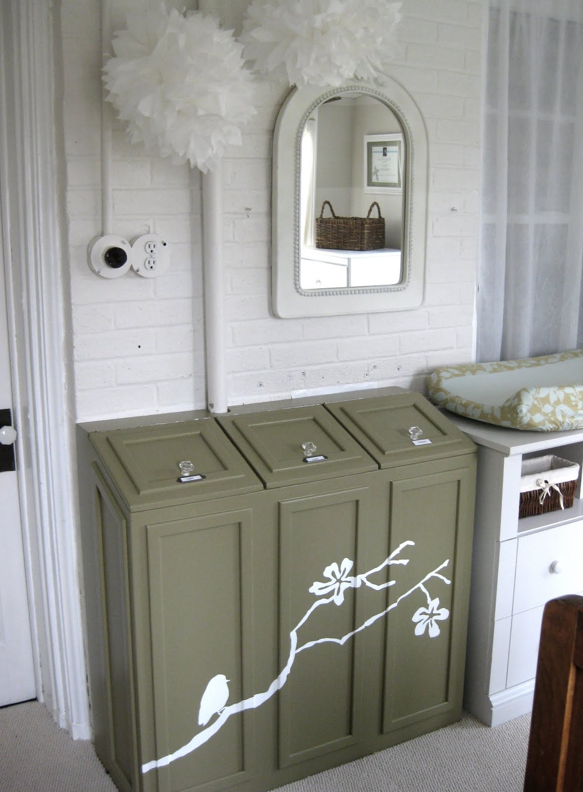 My Pink Life Laundry Chute Cabinet
