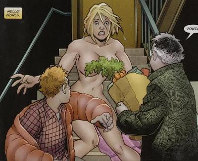 girl naked comic power