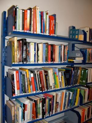Półki z nowościami w mojej bibliotece
