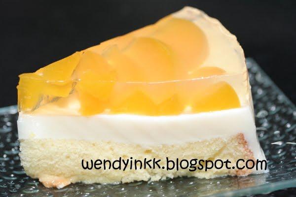 Peach Yogurt Chiffon Cake