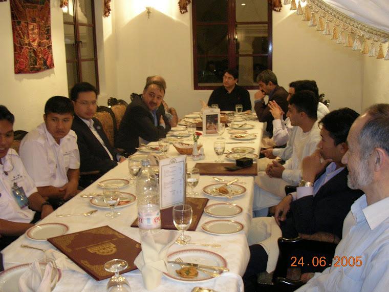NABI HABIBI WITH MINISTER H.E. AHADI IN A PRIVATE DINNER KUALA LUMPUR