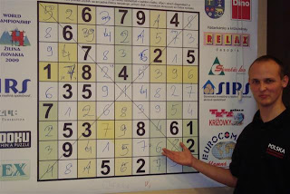 Jan Mrozowski (The Winner) @ 4th World Sudoku Championship 2009 Zilina Slovakia