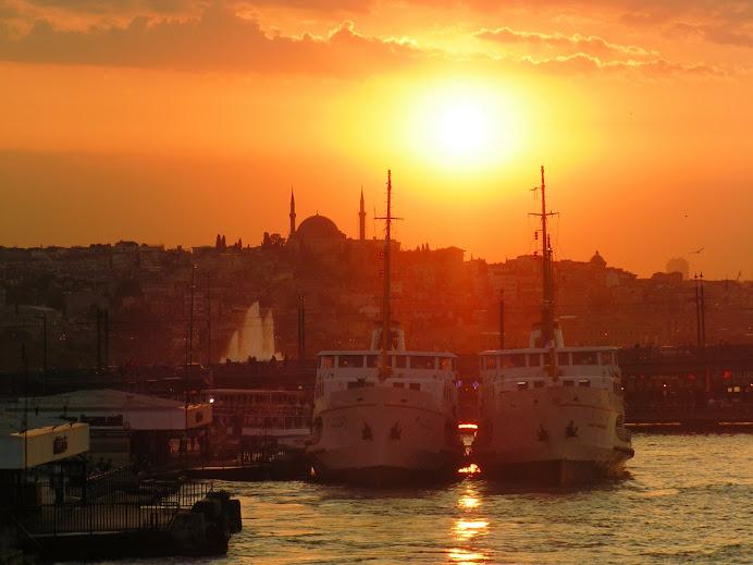 sunset on Golden Horn