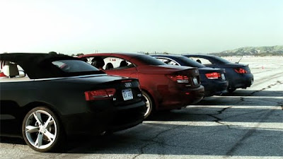 A Drag Race Between Four Of The Luxury Auto Segment S Most Attractive Convertibles Audi A5 Bmw 335i Lexus Is350 And Infiniti G37