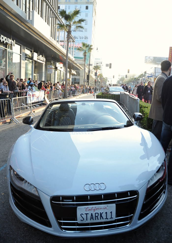 Audi R8 Spyder On The Red Carpet At Iron Man 2 World